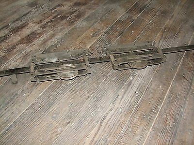 Antique Pocket door Rail and pulleys