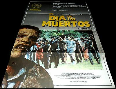 1985 Day of the Dead ORIGINAL SPAIN POSTER George A. Romero Zombies Cult Classic
