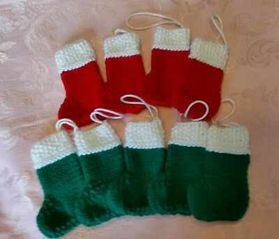 Hand Knit Christmas Tree Ornaments