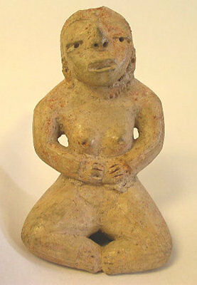 Pre-Columbian Pre-Classic Period  Mayan Seated Female Figure  C. 2000BC-1000BC
