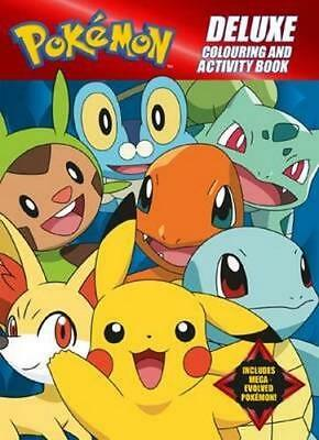 NEW Pokemon Deluxe Colouring and Activity Book Paperback Free Shipping