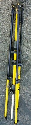 Trimble / Seco Collapsible GPS Base Station Tripod- Yellow With Hard Carry Case
