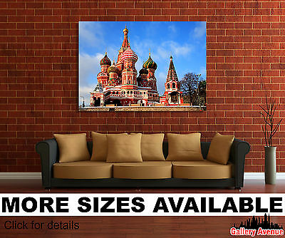 SC164 St Basils Cathedral Moscow  Landscape Canvas Wall Art Large Picture Prints