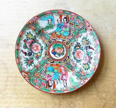 Vintage 1930s Hand Painted Chinese Plate- 15.2cm Diameter