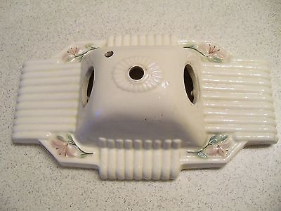 Antique Wall Sconce Double Light Fixture Porcelain Art Deco~Free Shipping!!