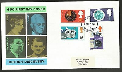 """GB stamps first day cover """"British Discovery"""" 1967"""