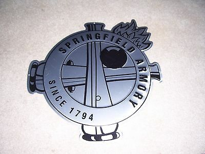 Springfield Armory Cross Cannons  Metal Tin Tacker Sign New
