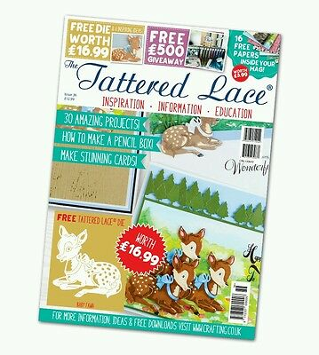 Tattered Lace Magazine - Issue 36 - FREE Baby Fawn Die + Papers