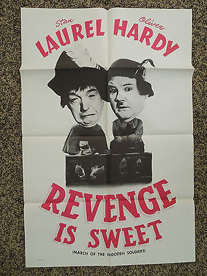 Vintage ' March Of The Wooden Soldiers ' Movie Poster ' 41 X 27 Laurel & Hardy '