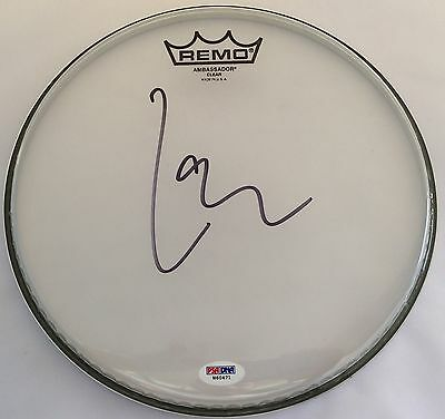 """Lars Ulrich Metallica Signed Remo 8"""" Drumhead Autographed PSA/DNA W60471"""