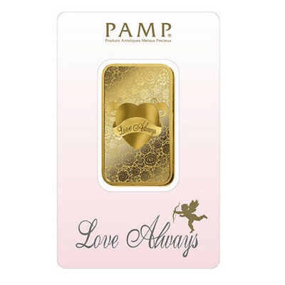 PAMP Suisse 5g PAMP Love Always Minted GOLD Bar 9999