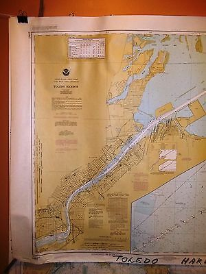 7 Large Nautical Charts authentic Great Lakes Erie Superior Lot of 7 Marine