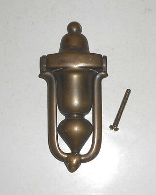 ANTIQUE 1820's English Solid Brass Door Knocker Architectural ORIGINAL PATINA