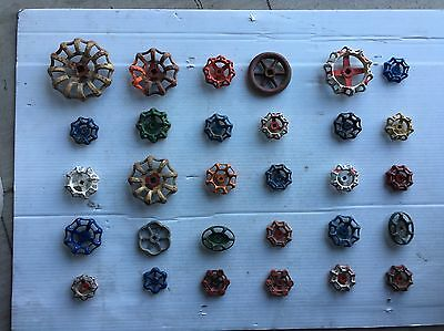 30 Vintage/antique Valve Handles Water Faucet Knobs Steampunk Industrial Art#721