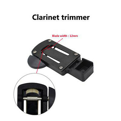 Metal Reed Trimmer Cutter w/ Sharp Blade Clean for Clarinet Reed Stable Black WY