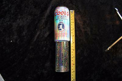 """Vintage Coors Light Lucite Beer Tap Handle - 9"""" BEER CAN SHAPE"""
