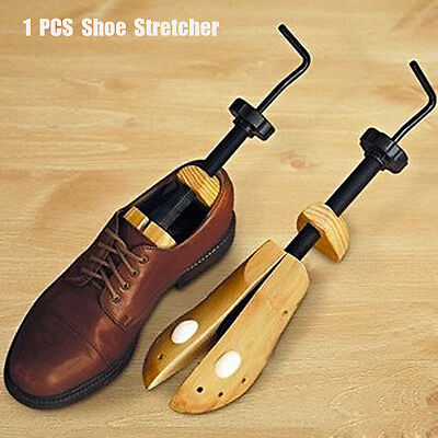 Women Men Wooden Adjustable 2-way Shoe Stretcher Expander Shaper Tree S-L Unisex