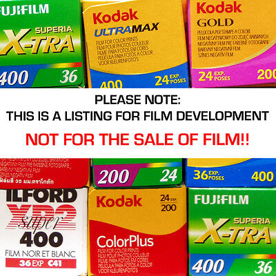 120 Colour Film DEVELOPING SERVICE with CD or USB - 4.5mb Per Picture