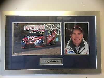 Craig Lowndes signed & framed photo With COA