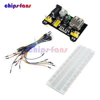 MB-102 Solderless Breadboard Protoboard 830 Tie Points 2 buses Test Circuit