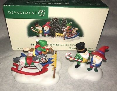 Dept 56 Do I Have A Deal For You North Pole Series Village Accessory W Box Nice!