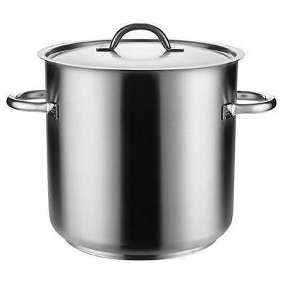 Stockpot with Lid, 50L, Stainless Steel, Pujadas 'Top Line', Stock Pot Cooking