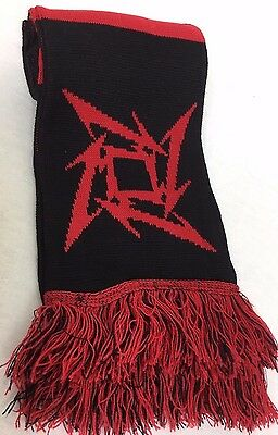 METALLICA Scarf by Symmetry - Red & Black - Made in Great Britain