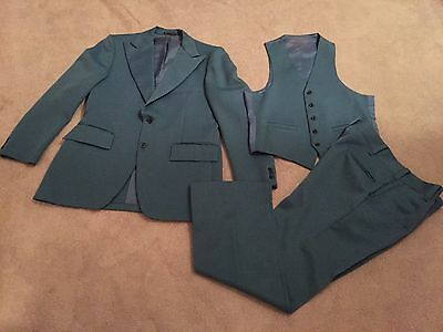 Vintage Men's Blue 3 Piece Suit 1970s Very Good to Excellent Condition