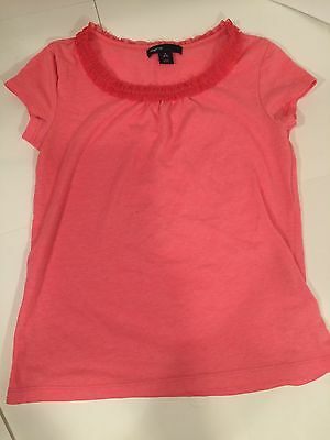 Gap Kids Girl Bright Pink short sleeve top size S 6-7