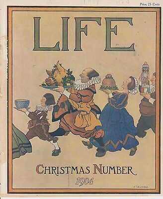 Christmas Number 1904 LIFE magazine cover  by F T. Richards / Pears Soap reverse