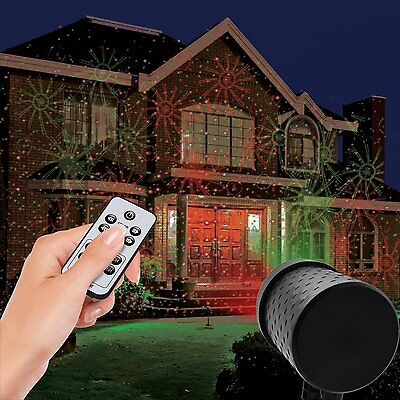 Christmas Light Laser Projector Star Lights Show Outdoor Decoration Xmas Remote