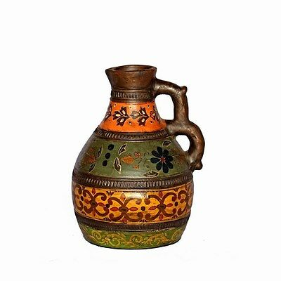 Silkroute PST1511 Amala Terra Cotta Vase With Handle (L)