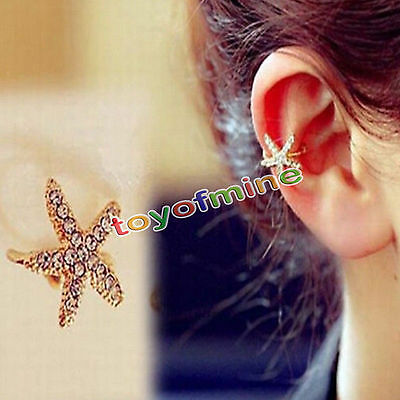 Women Fashion Jewelry Lady Elegant Crystal Rhinestone Ear Stud Earrings 1 PC