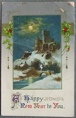 Vintage Antique greeting card, A Happy New Year to You 1910/20s