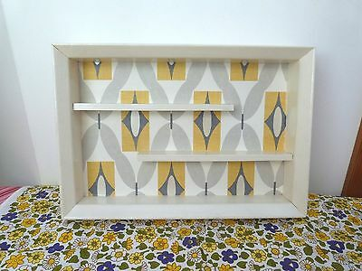 Vintage Hand Made Wood Wall Display Shelf for Collectables