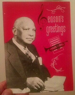 W.C. Handy personal xmas card 1954! Rare! Father of the BLUES! St. Louis Woman