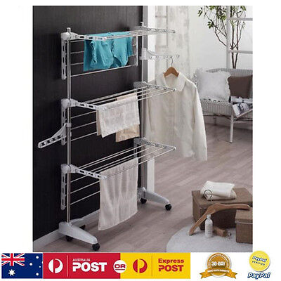 Foldable Clothes Drying Rack Garment Laundry Horse Clothesline Hanger Airer NEW