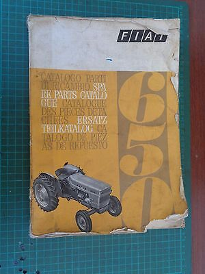 Vintage tractor manual FIAT 650, complete but worn