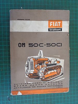 Vintage tractor manual FIAT Crawler  50C- 50CI, complete but worn