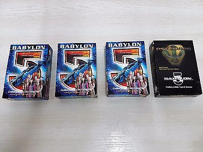Babylon 5 collectible card game - 4 packs: Earth, Centauri, Narn and Psi-Corps