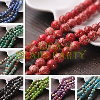 Wholesale Natural Imperial Jasper Gemstone Stone Loose Round Beads 4/6/8/10mm