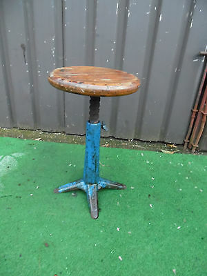 Vintage Industrial Singer Machinist Workshop Architects Chair Swivel Stool • £214.50