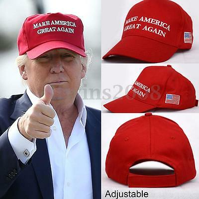 Rouge Make America Great Again Donald Trump 2016 Casquette Chapeau Reglable Cap