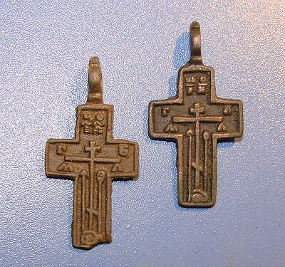 Ancient bronze  Crosses Middle Ages original