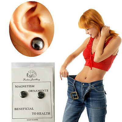 1 Pairs Stud Weight Loss Earrings Health Stimulating Acupoints Magnetic Therapy