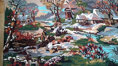 "Completed Royal Paris Tapestry ""The Wood Cutters"" 45 x 35 cm"