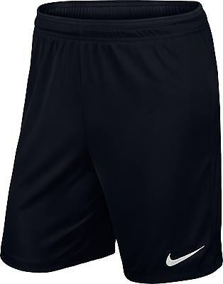 Shorts Football/ Soccer Nike Park Ii Kids Xs- Xl Black Geniune Nike Product