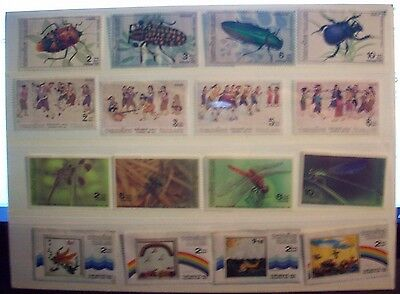 Thailand 1989-1991 sets of mint stamps