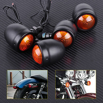 4x Motorcycle Bullet Turn Signal Indicator Brake Lights for Harley Chopper Honda