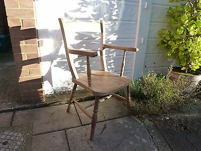 Antique Wooden Dining Sitting Chair